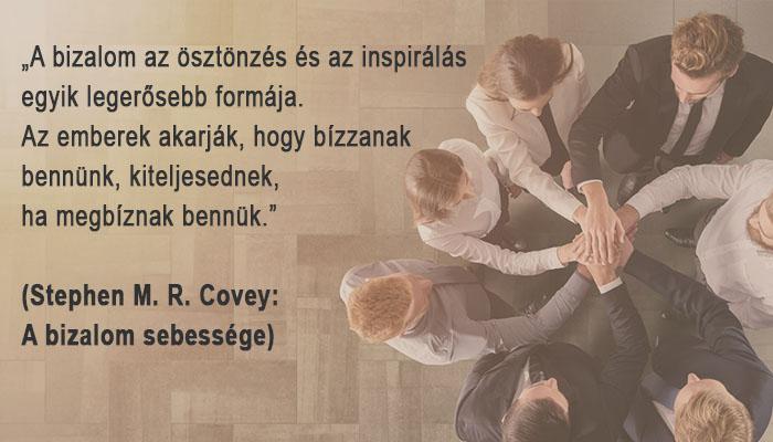 Bizalom idézet Sonkoly Zsuzsa coach, cégvezetők terapeutája